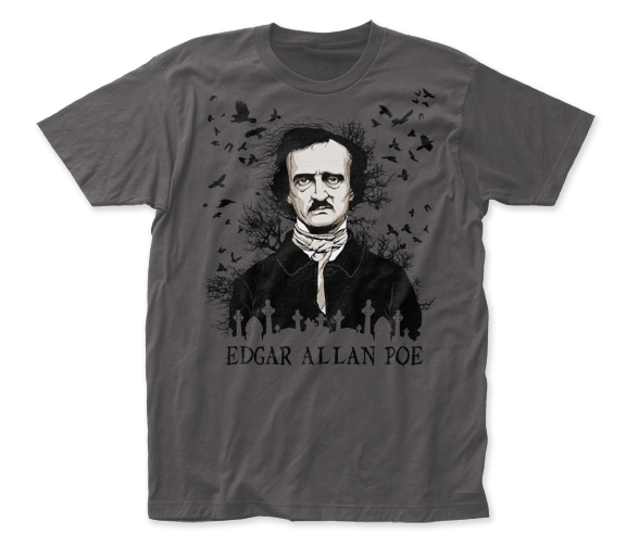 Edgar Allan Poe Raven fitted jersey tee