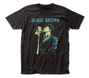 James Brown Singing fitted jersey tee