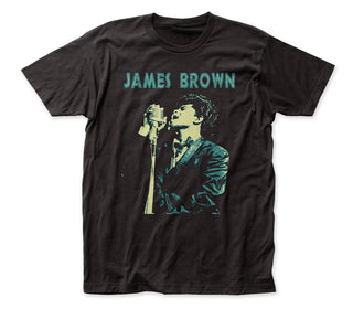 James Brown - Singing | Black S/S Adult Jersey T-Shirt - Coastline Mall
