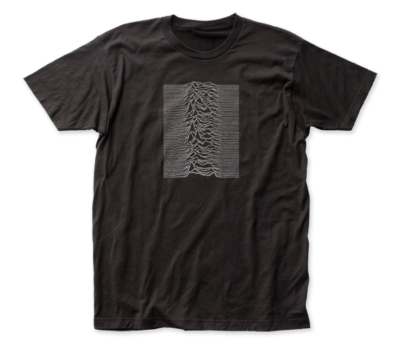 Joy Division Unknown Pleasures Front-Back Print fitted jersey tee