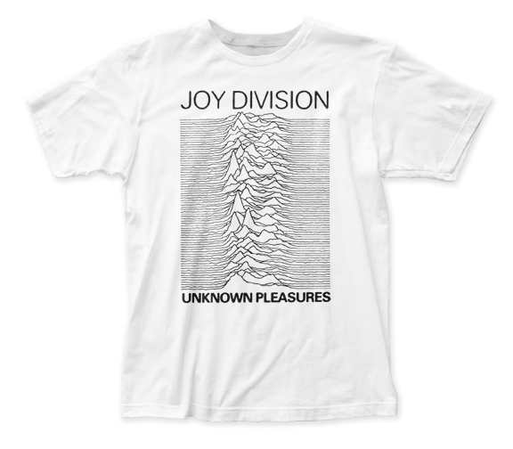 Joy Division Unknown Pleasures white fitted jersey tee