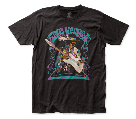Jimi Hendrix Psychedelic Haze fitted jersey tee