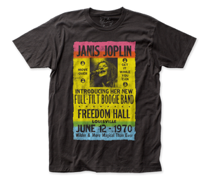 Janis Joplin Freedom Hall Poster fitted jersey tee