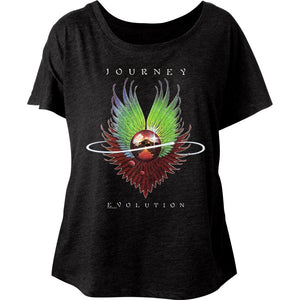 Journey-Evolution-Vintage Black Ladies S/S Dolman