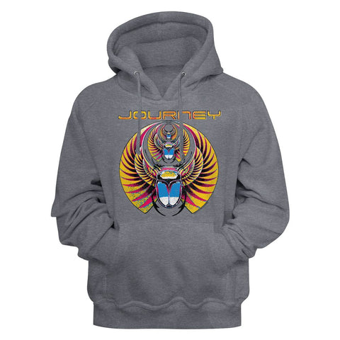 Journey-Triscarab-Gunmetal Heather Adult L/S Pullover Hoodie