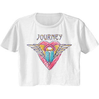 Journey-Scribble Scarab-White Ladies S/S Festival Cali Crop - Coastline Mall