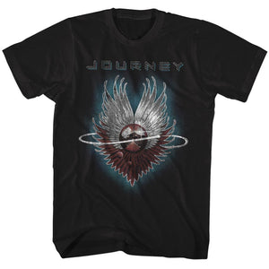 Journey-Journey-Black Adult S/S Tshirt