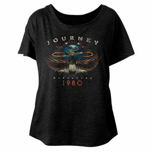 Journey-1980-Vintage Black Ladies S/S Dolman