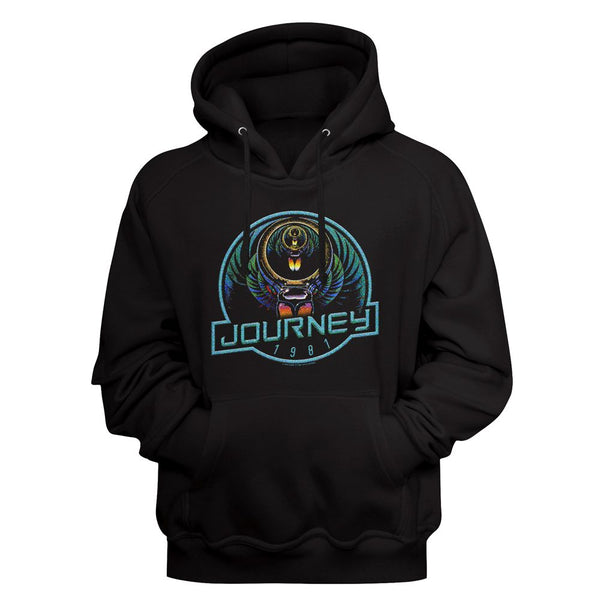 Journey - Journey '81 | Black L/S Pullover Adult Hoodie - Coastline Mall