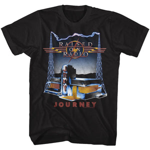 Journey-On Radio-Black Adult S/S Tshirt