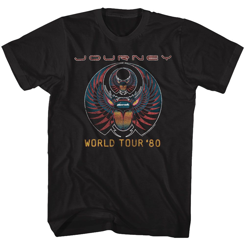 Journey-World Tour 80-Black Adult S/S Tshirt