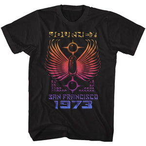 Journey-1973-Black Adult S/S Tshirt