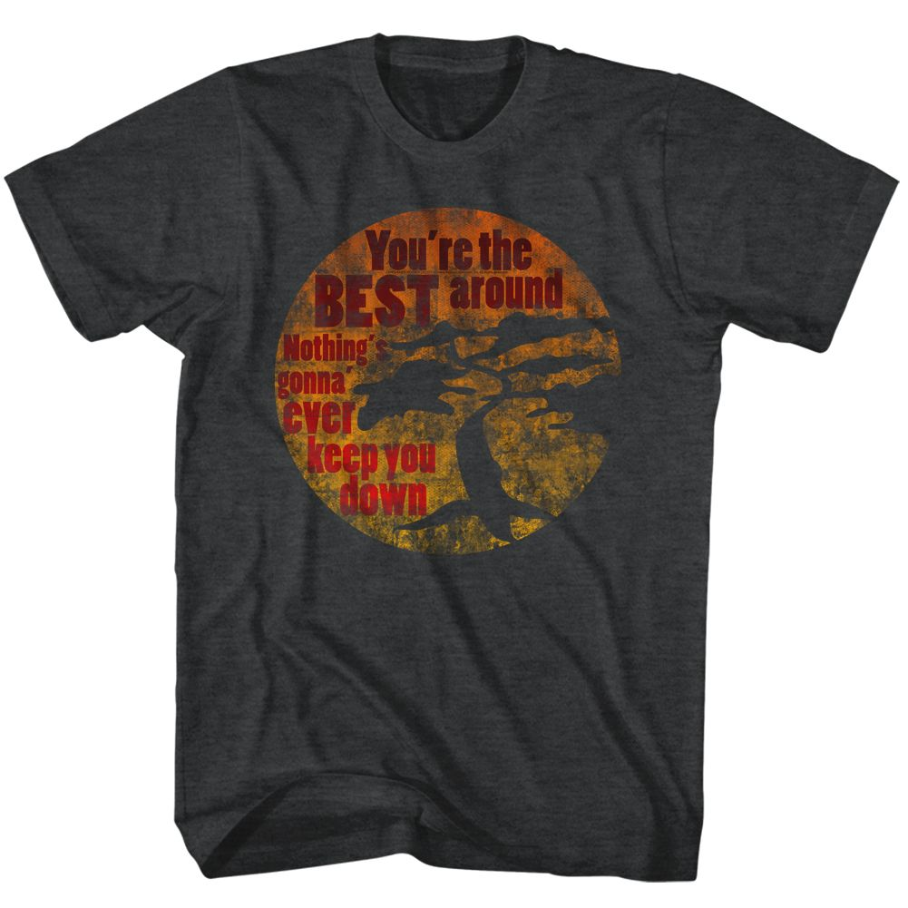Karate Kid-You're The Best-Black Heather Adult S/S Tshirt