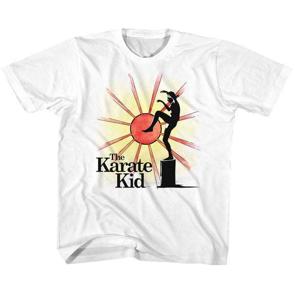 Karate Kid-Ninja Sun-White Toddler-Youth S/S Tshirt