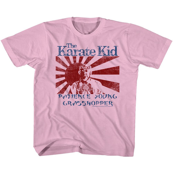 Karate Kid-Wax On Miyagi-Light Pink Toddler-Youth S/S Tshirt