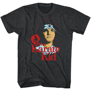 Karate Kid-Aw Son-Black Heather Adult S/S Tshirt
