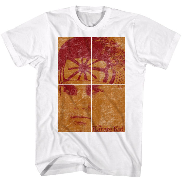 Karate Kid-Face-White Adult S/S Tshirt