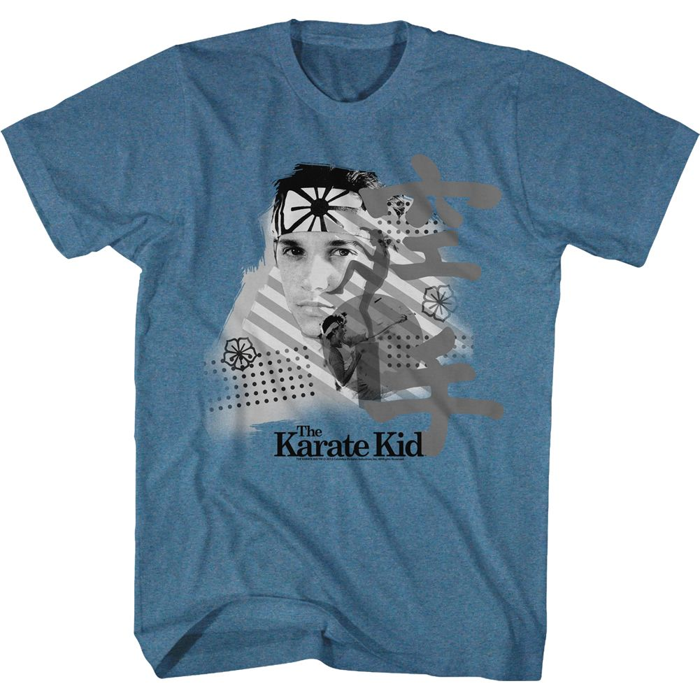Karate Kid-Grasshopper-Pacific Blue Heather Adult S/S Tshirt