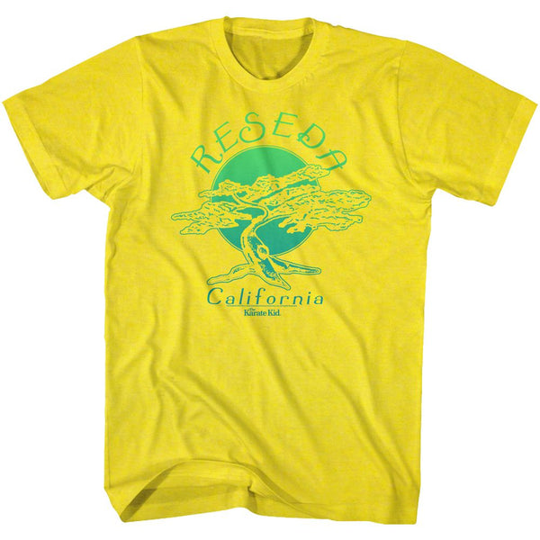 Karate Kid-Cool Story-Yellow Adult S/S Tshirt - Coastline Mall
