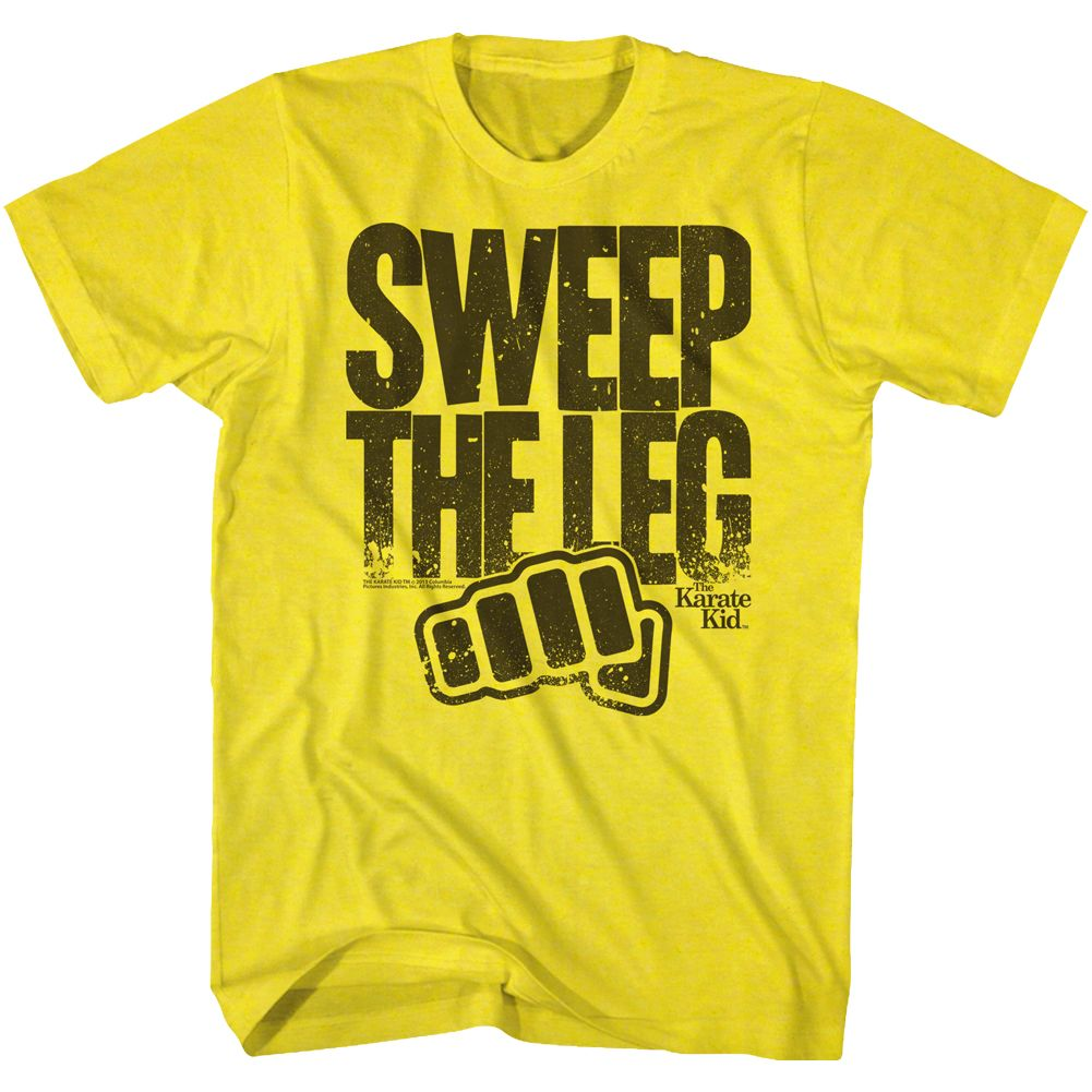 Karate Kid-Sweep The Leg-Yellow Adult S/S Tshirt