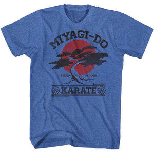 Karate Kid-Miyagi-Do It Again-Royal Heather Adult S/S Tshirt