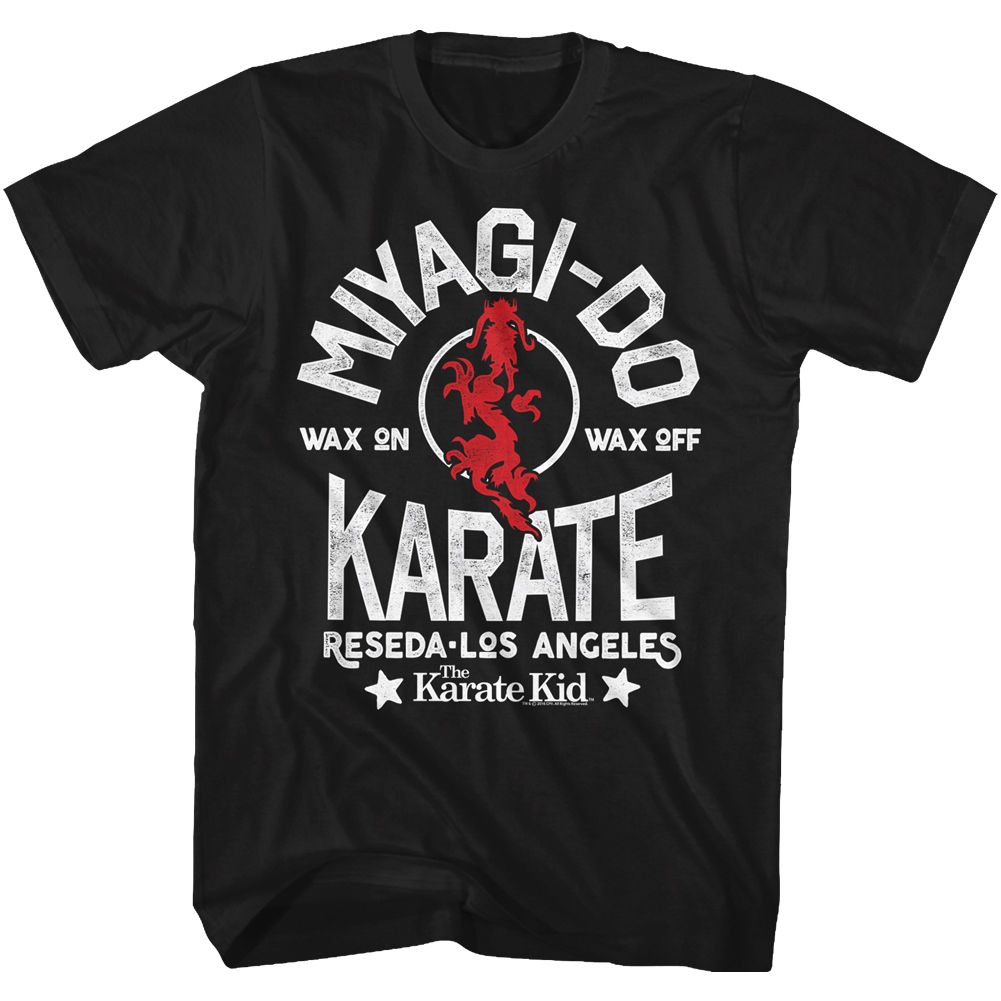 Karate Kid-Miyagi-Do-Black Adult S/S Tshirt