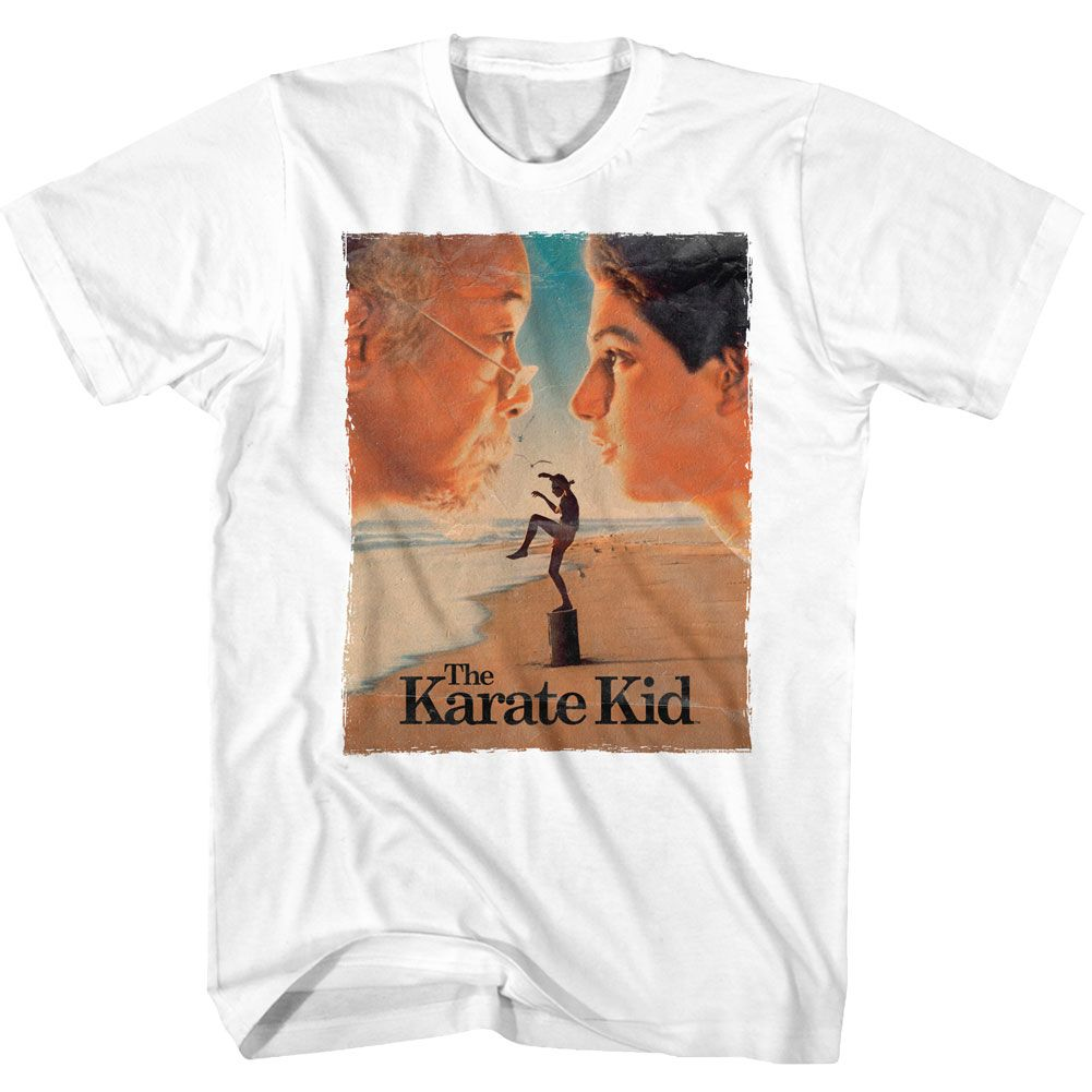 Karate Kid-Poster-White Adult S/S Tshirt