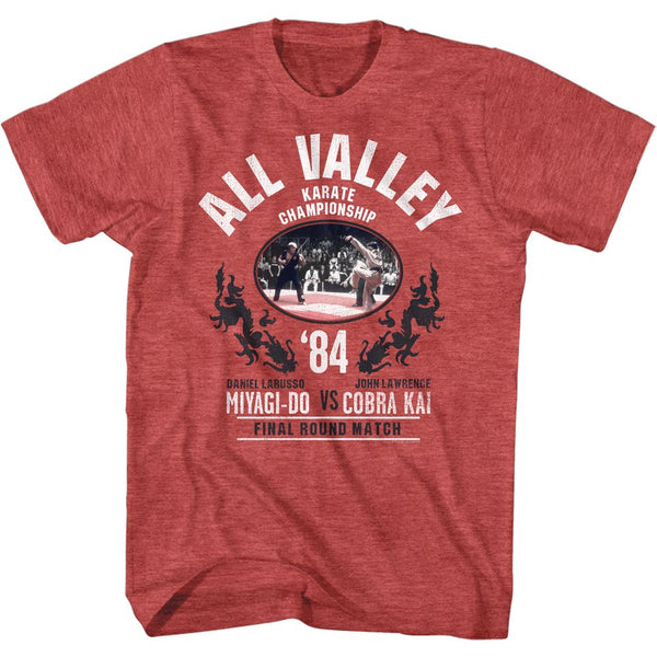 Karate Kid-Allvalleychamp-Red Heather Adult S/S Tshirt