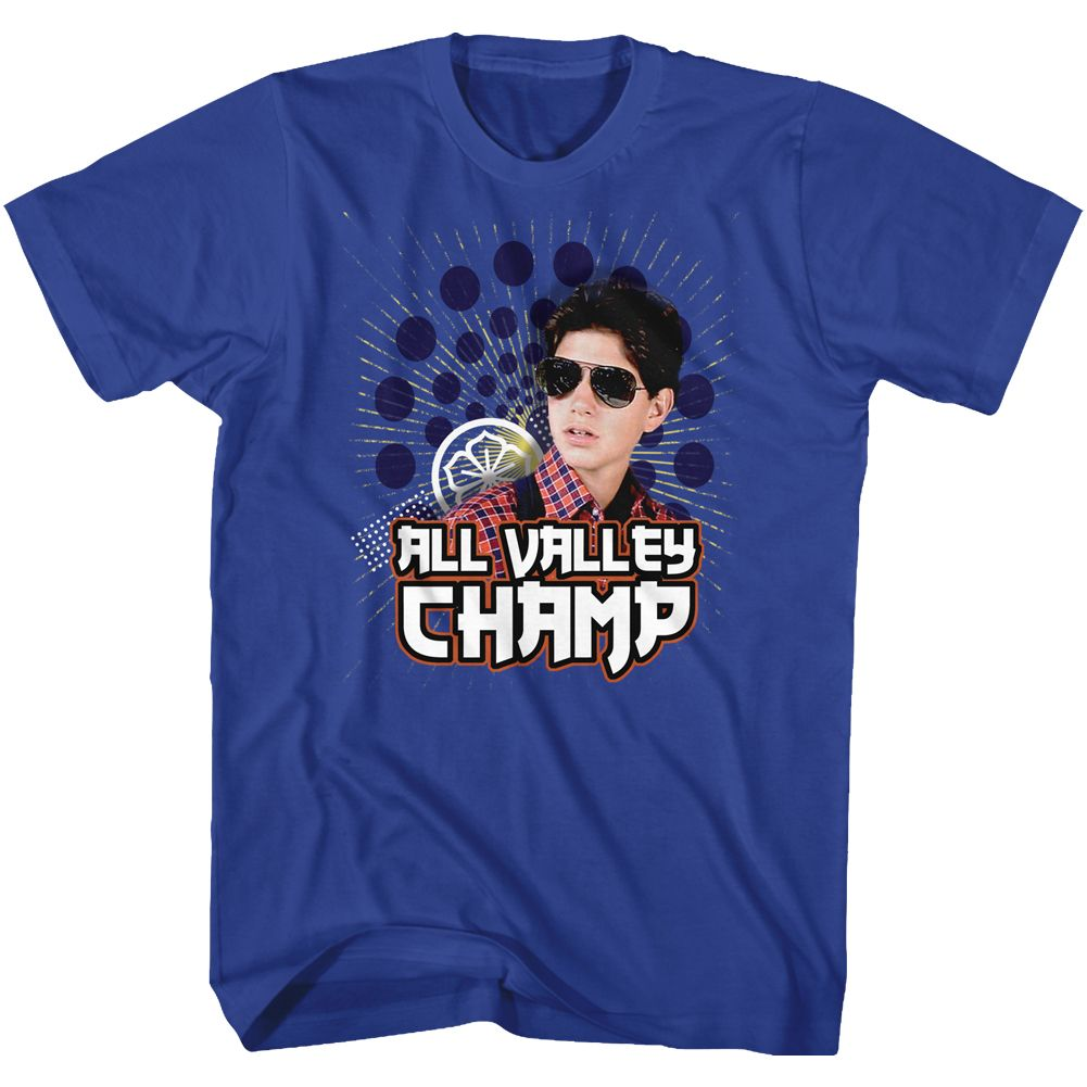 Karate Kid-Champ-Royal Adult S/S Tshirt