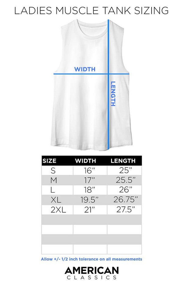 Ladies Muscle Tank Size Chart - Coastline Mall