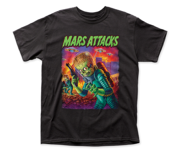 Mars Attacks UFOs Attack adult tee