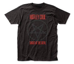 Motley Crue Shout At The Devil Pentagram adult tee