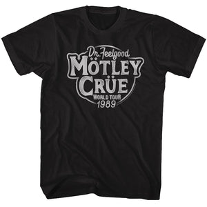 Motley Crue-Dr Feelgood Tour-Black Adult S/S Tshirt
