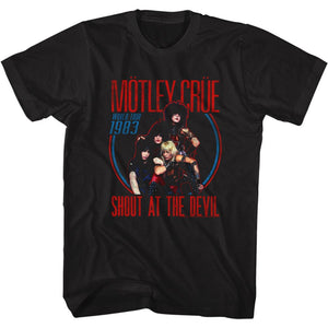 Motley Crue-Shout At The Devil Tour 1983-Black Adult S/S Tshirt