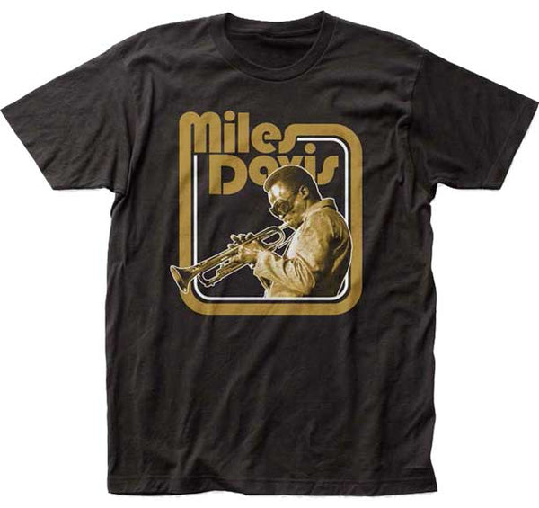 Miles Davis Trumpet fitted jersey tee