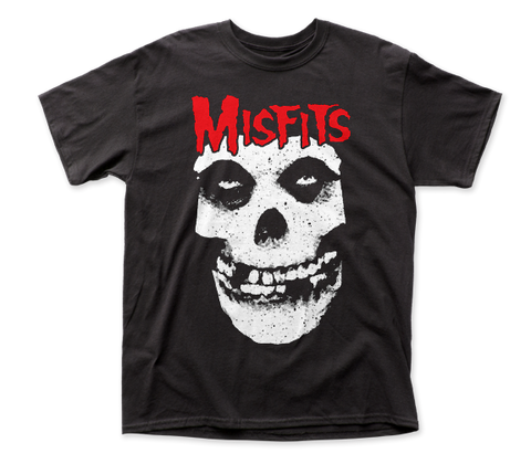 Misfits Red Logo Skull adult tee