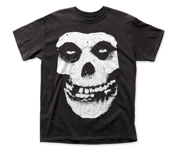 The Misfits Skull and Logo Black Short Sleeve Classic Fit Heavy Weight Adult T-Shirt tee - Coastline Mall