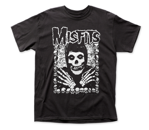 Misfits I Want Your Skulls Front-Back Print adult tee