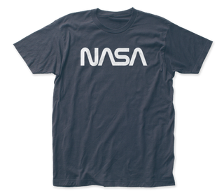 NASA - Retro Logo Indigo Short Sleeve Adult Soft Slim Fit Unisex Jersey T-Shirt tee - Coastline Mall