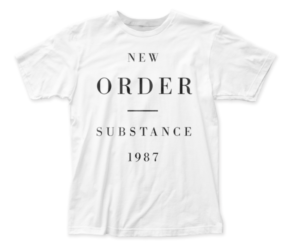 New Order Substance 1987 fitted jersey tee