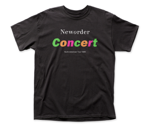New Order Concert fitted jersey tee