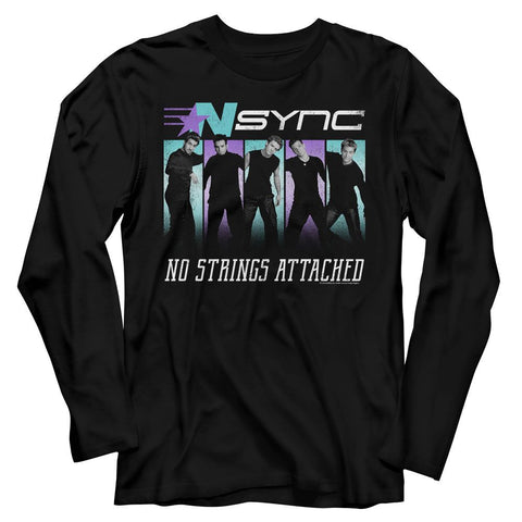 NSYNC-Blue Purple-Black Adult L/S Tshirt