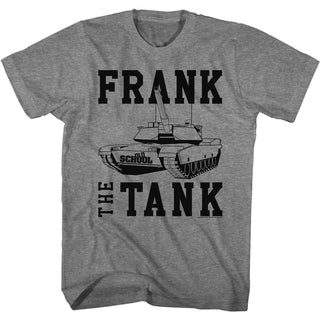 Old School Frank The Tank Logo Graphite Heather Adult Short Sleeve T-Shirt tee - Coastline Mall