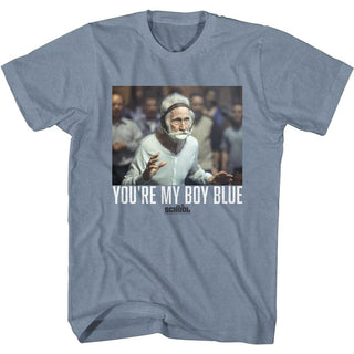 Old School You're My Boy Logo Indigo Heather Adult Short Sleeve T-Shirt tee - Coastline Mall