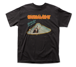 Parliament - Mothership Connection | Black S/S Adult T-Shirt - Coastline Mall