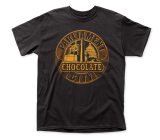 Parliament - Chocolate City | Black S/S Adult T-Shirt - Coastline Mall