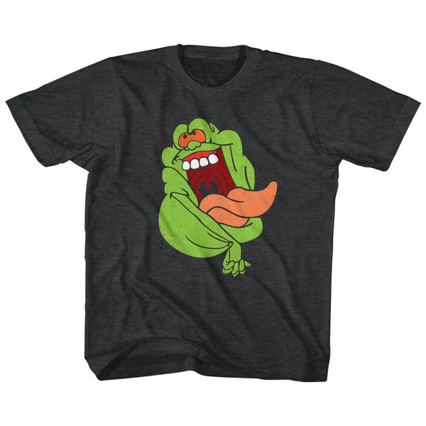 The Real Ghostbusters-Slimer-Black Heather Toddler-Youth S/S Tshirt - Coastline Mall