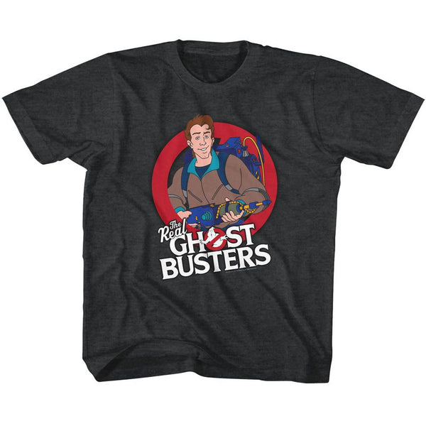 The Real Ghostbusters-Venkman-Black Heather Toddler-Youth S/S Tshirt - Coastline Mall