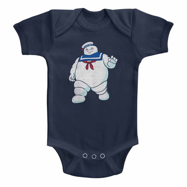 The Real Ghostbusters - Mr Stay Puft | Navy S/S Infant Bodysuit - Coastline Mall