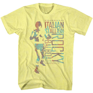 Rocky-Italy Man-Yellow Heather Adult S/S Tshirt